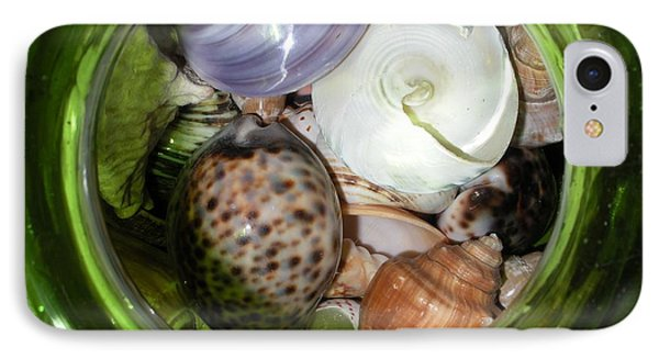 Shells Under Glass II Phone Case by Maria Bonnier-Perez