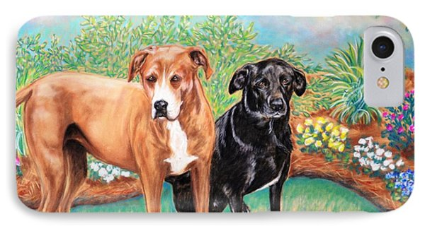 Shelter Rescued And Loved Phone Case by Patricia L Davidson