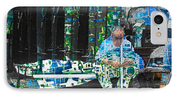 IPhone Case featuring the mixed media Shelter by Tony Rubino