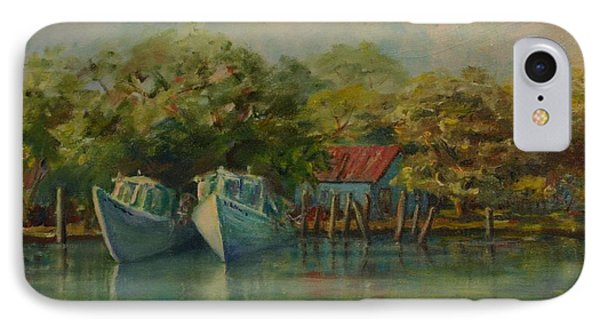 Shem Creek Boats IPhone Case by Dorothy Allston Rogers