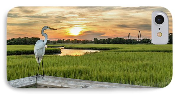 Shem Creek Pier Sunset IPhone Case