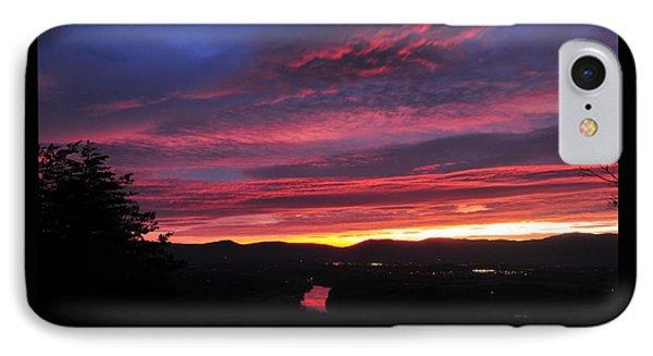 IPhone Case featuring the photograph Shenandoah Morning Glow by Lara Ellis