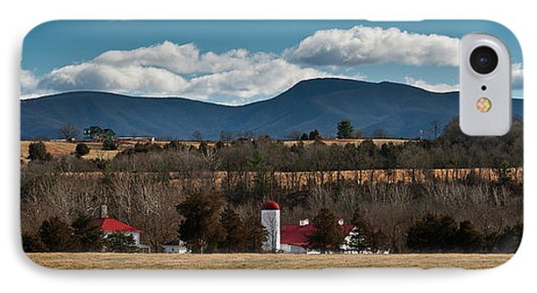 IPhone Case featuring the photograph Shenandoah Valley Farm Winter Skies by Lara Ellis
