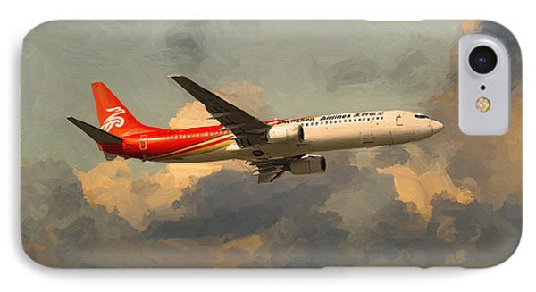 Shenzhen Airlines B739 On Route IPhone Case