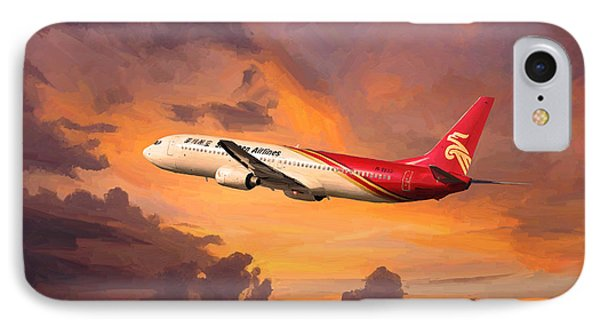 Shenzhen Airlines Enroute IPhone Case by Nop Briex