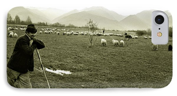 Shepherd In The Carpathians Mountains IPhone Case