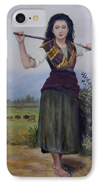 IPhone Case featuring the painting Shepherdess by Sandra Nardone