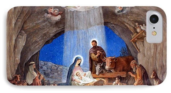 Shepherds Field Nativity Painting IPhone Case