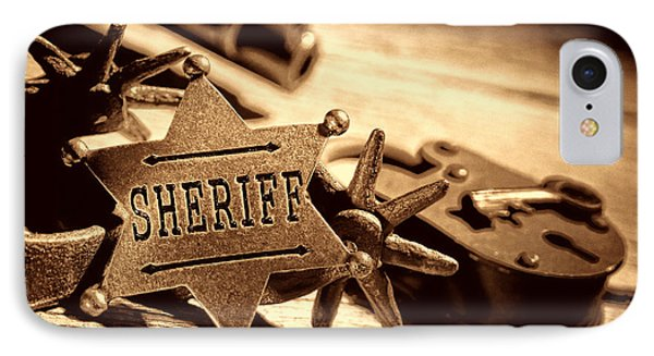 Sheriff Tools IPhone Case by American West Legend By Olivier Le Queinec