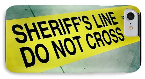 Sheriff's Line - Do Not Cross IPhone Case by Nina Prommer