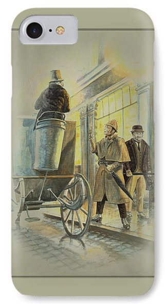 Sherlock Holmes At The Northumberland Phone Case by Tony Hough