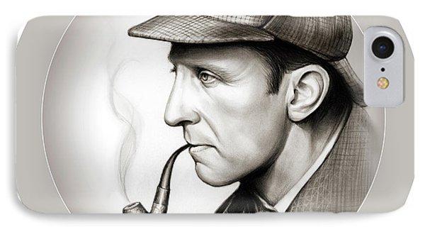 Sherlock Holmes IPhone Case by Greg Joens