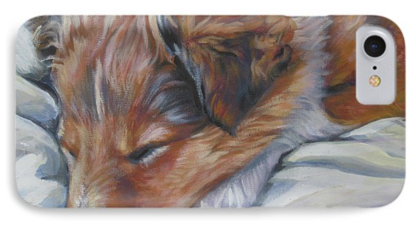 Shetland Sheepdog Sleeping Puppy Phone Case by Lee Ann Shepard