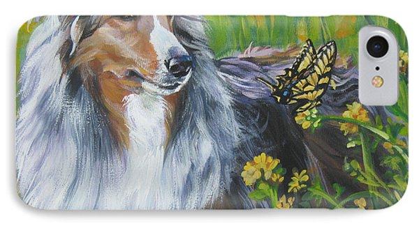 Shetland Sheepdog Wildflowers Phone Case by Lee Ann Shepard
