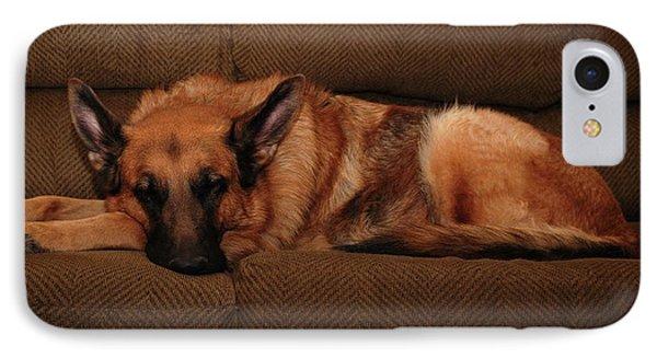 Shhh. Dog Sleeping Here - German Shepherd Dog IPhone Case