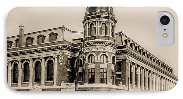 Shibe Park 1913 In Sepia IPhone Case by Bill Cannon