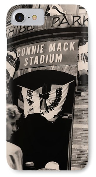 Shibe Park - Connie Mack Stadium IPhone Case by Bill Cannon