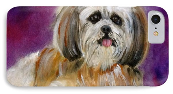 Shih-tzu Puppy IPhone Case by Jenny Lee