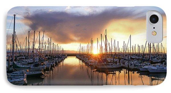 Shilshole Marina Golden Sunset IPhone Case by Mike Reid