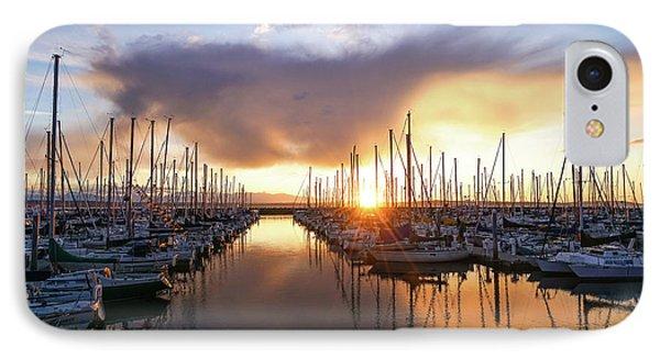 Shilshole Marina Sunset Dramatic Clouds IPhone Case by Mike Reid