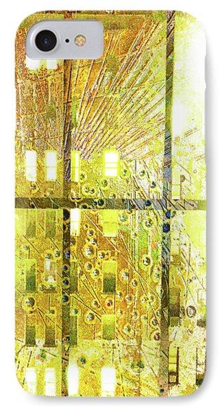 IPhone Case featuring the mixed media Shine A Light by Tony Rubino