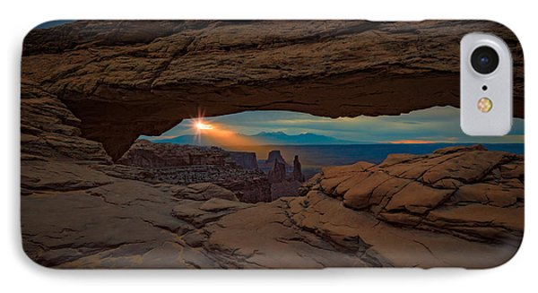 Shining Down On Mesa Arch IPhone Case by Rick Berk