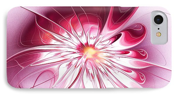 Shining Pink Flower IPhone Case