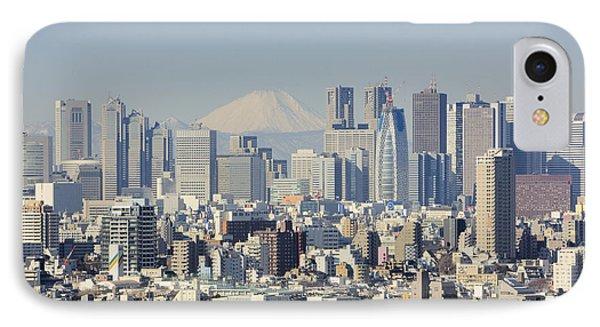 Shinjuku Skyline With Mt Fuji IPhone Case by Jeremy Woodhouse