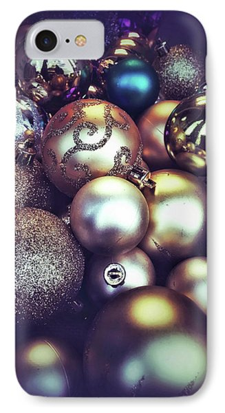 Shiny Christmas Baubles IPhone Case by Tom Gowanlock
