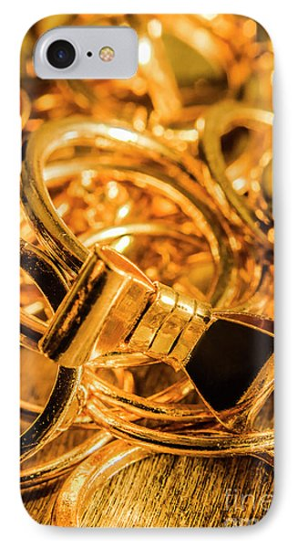 Shiny Gold Rings IPhone Case by Jorgo Photography - Wall Art Gallery