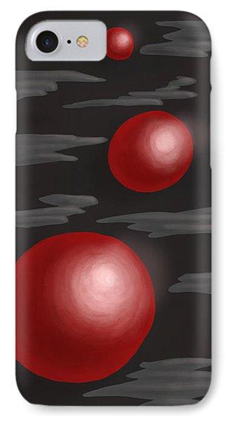 Shiny Red Planets Phone Case by Boriana Giormova