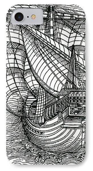 Ship From The Time Of Christopher Columbus IPhone Case by English School