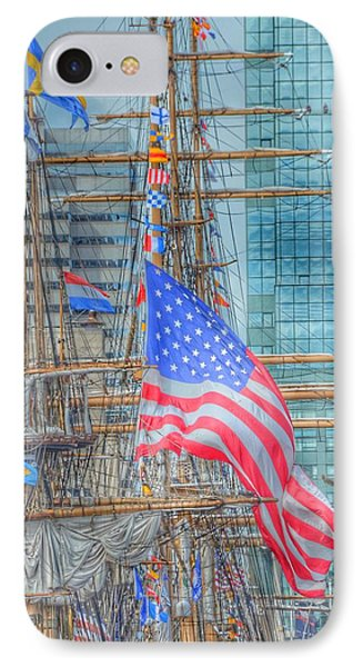 Ship In Baltimore Harbor IPhone Case