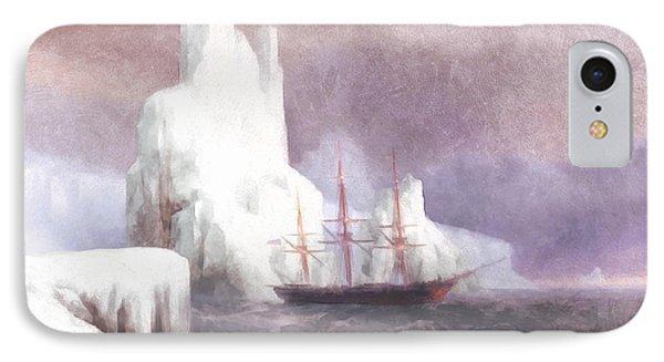 Ship In Winter IPhone Case by Georgiana Romanovna