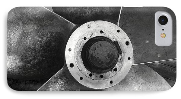 Ship Propeller  IPhone Case by John  Mitchell
