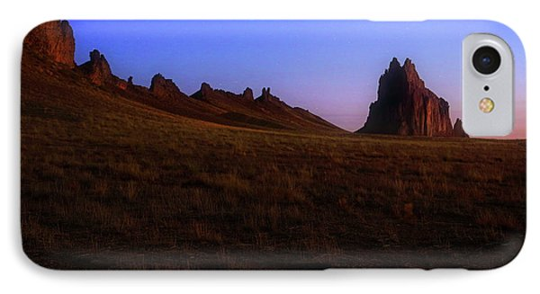 IPhone Case featuring the photograph Shiprock Under The Stars - Sunrise - New Mexico - Landscape by Jason Politte
