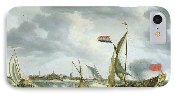 Ships At Sea  Phone Case by Bonaventura Peeters
