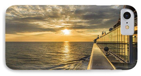Shipside Sunset IPhone Case by Bill Tiepelman