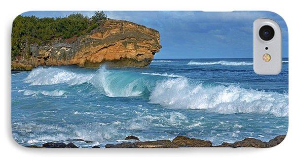 Shipwreck Beach Shorebreaks 2 IPhone Case by Marie Hicks