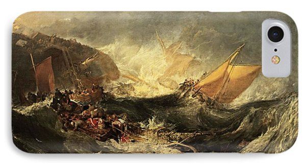 IPhone Case featuring the painting Shipwreck Of The Minotaur by J M William Turner