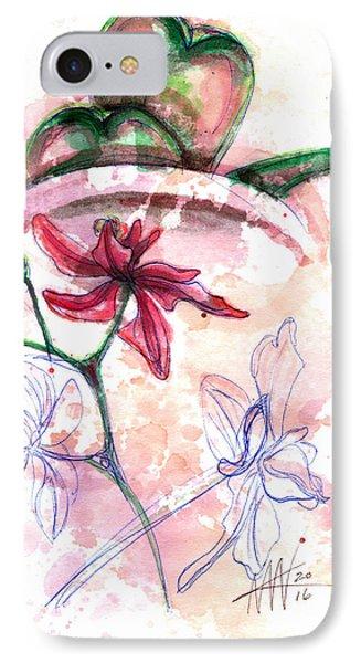 Shiraz Orchid II IPhone Case by Ashley Kujan