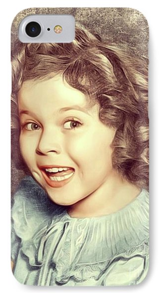 Shirley Temple iPhone 7 Case - Shirley Temple, Actress by Mary Bassett