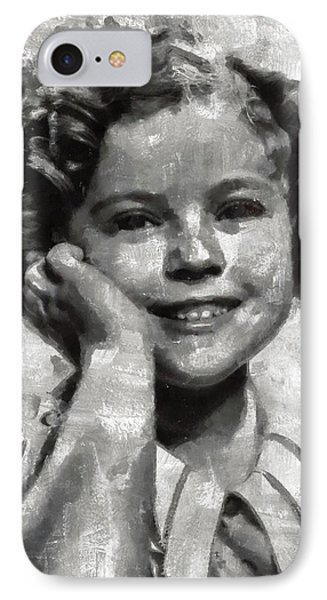 Shirley Temple iPhone 7 Case - Shirley Temple By Mary Bassett by Mary Bassett