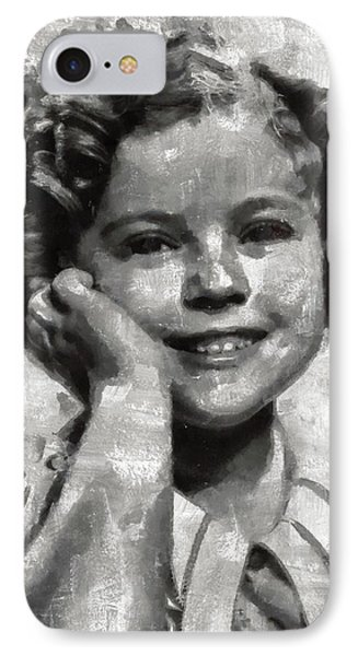 Shirley Temple By Mary Bassett IPhone Case by Mary Bassett