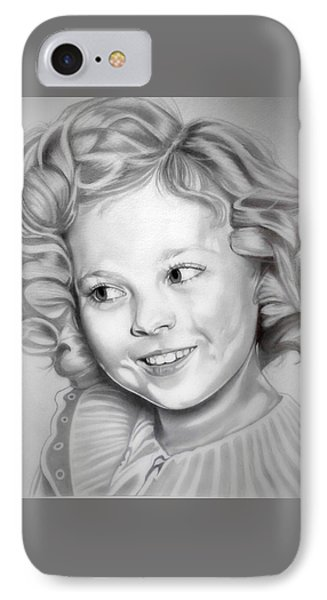 Shirley Temple iPhone 7 Case - Shirley Temple by Fred Larucci