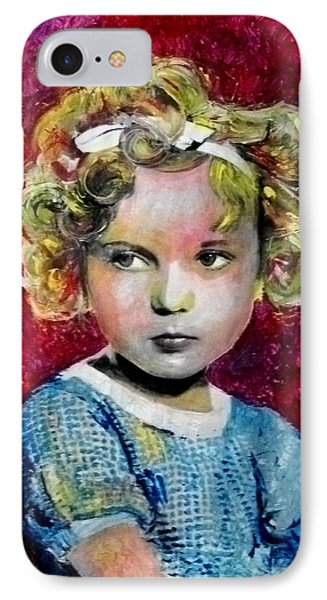 Shirley Temple iPhone 7 Case - Shirley Temple by Marcelo Neira