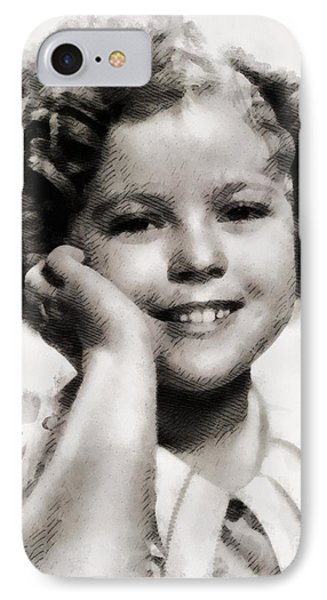 Shirley Temple Vintage Actress IPhone Case by John Springfield