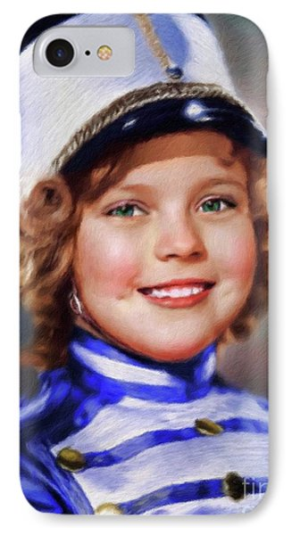 Shirley Temple iPhone 7 Case - Shirley Temple, Vintage Actress by Mary Bassett