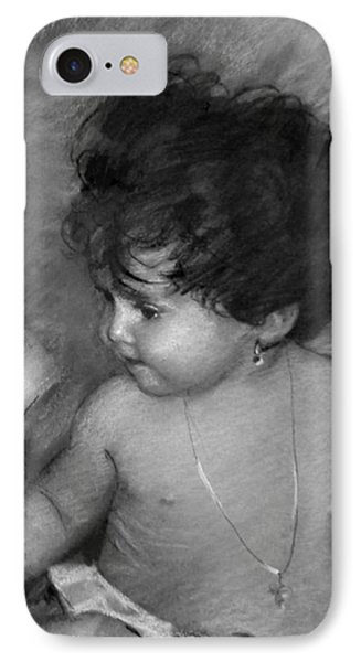 Shirtless Baby IPhone Case by Ylli Haruni