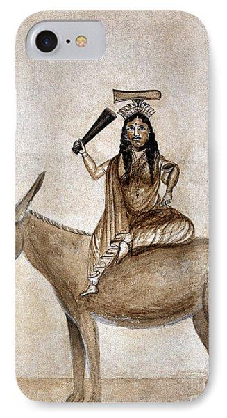 Shitala Mara, Hindu Goddess Of Smallpox IPhone Case by Wellcome Images